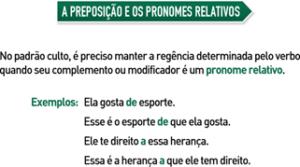 A preposição e os pronomes relativos