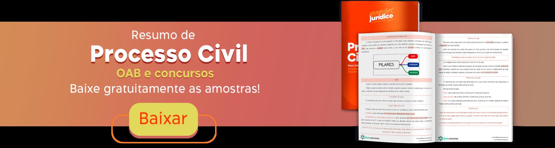 Resumo de Direito Processual Civil