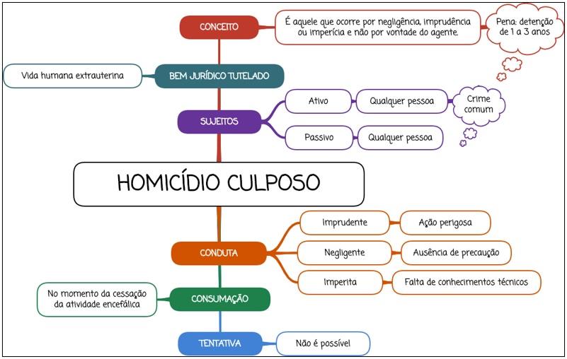 Homicídio Culposo - Mapa mental