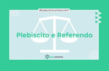 Plebiscito e Referendo