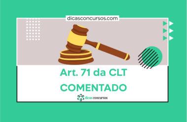 Art. 71 da CLT [COMENTADO]