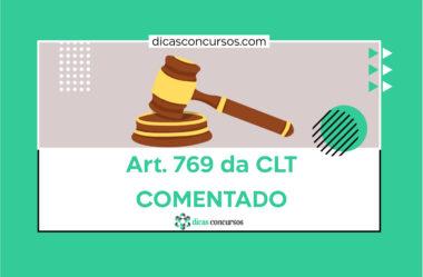 Art. 769 da CLT [COMENTADO]
