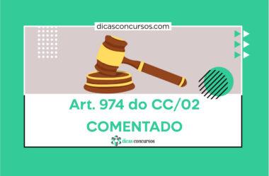 Art. 974 do CC [COMENTADO]