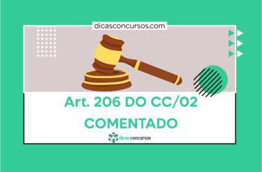 Art. 206 do CC [COMENTADO]